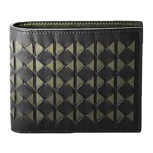 Eclipse Black & Green Mosaico Nappa Leather 8-Card Billfold