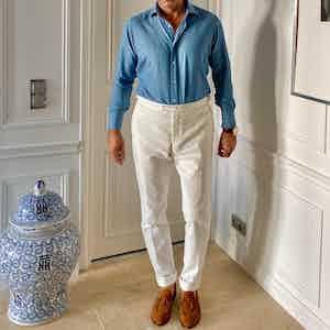 The Alexander Kraft Monte Carlo super-soft Ecru corduroy trousers