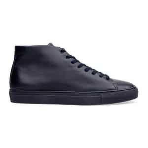 Midnight Blue High-Top Sneakers Sandro