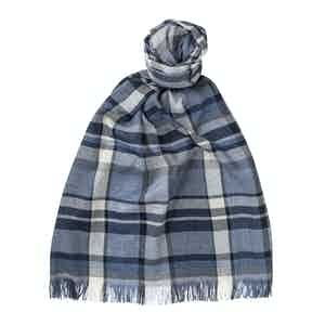 Denim Cashmere and Silk Scarf