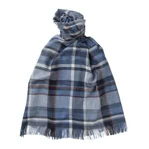 Indigo Cashmere and Silk Scarf