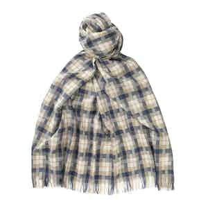 Denim Escorial Wool Block Featherweight Scarf