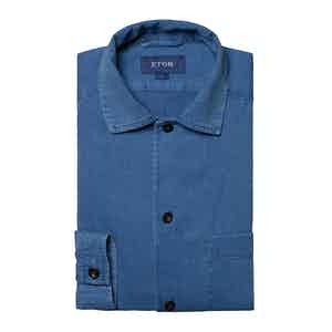 Indigo Heavy Twill Cotton Chore Jacket