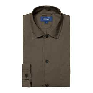 Olive Green Heavy Oxford Shirt