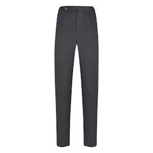 Dark Grey Wool Bird's Eye Trousers