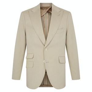 Ecru Cotton Single-Breasted Suit
