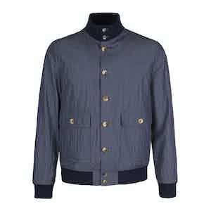 Slate Grey Cotton Blend Unlined Valstarino Jacket
