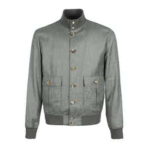 Green Loro Piana Linen Blend Valstarino Jacket