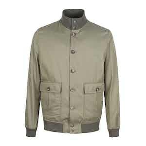 Taupe Cotton Twill Valstarino Jacket