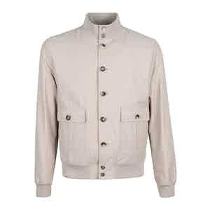 Taupe Cotton Blend Valstarino Jacket