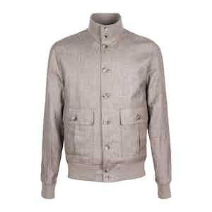 Brown Loro Piana Linen and Wool Blend Valstarino Jacket