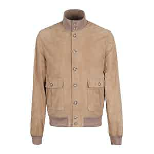 Brown Light Suede Unlined Valstarino Jacket