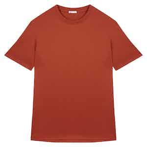 Rust Cotton Crew Neck T-shirt