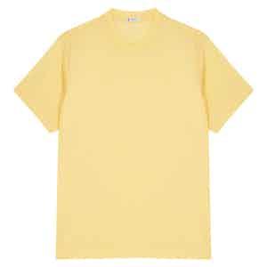Yellow Cotton Crew Neck T-shirt