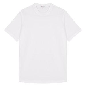 White Cotton Crew Neck T-shirt