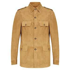 Honey Soft Baby Suede Sport Safari Jacket