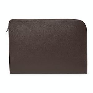 Chocolate Calfskin Light Grain Leather Under Arm Bag