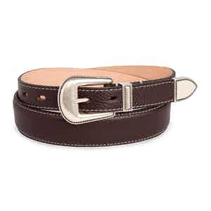 Dark Brown Full Grain Calf Leather Ouray Belt
