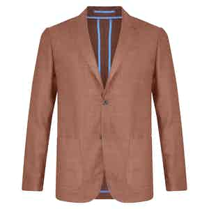 Terracotta Unlined Single-Breasted Patch Pocket Jacket