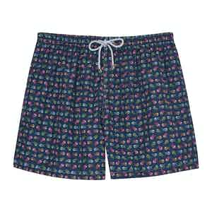 Blue Fish Swimming Shorts