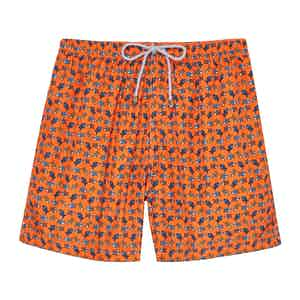 Orange Fishes Swimming Shorts