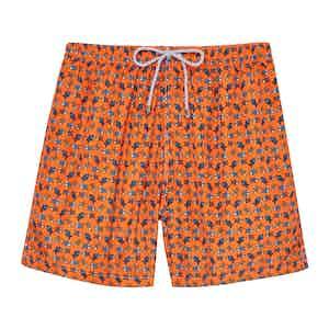 Orange Fishes Swimming Shorts