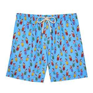 Light Blue Vespa Swimming Shorts