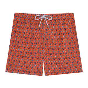 Red Fish Swimming Shorts