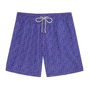 Blue Violet Mini Flowers Swimming Shorts