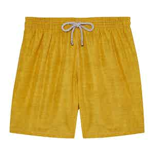 Yellow Melange Swimming Shorts