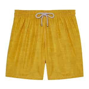 Yellow Melange Swimming Shorts
