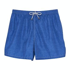 Blue Melange Swimming Shorts