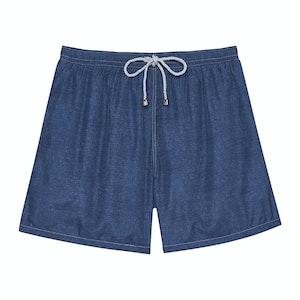 Dark Blue Melange Swimming Shorts