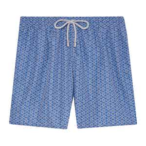 Blue and Light Brown Swimming Shorts