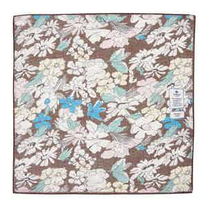 Brown Flowers Cotton and Linen Pocket Square