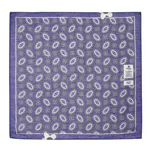 Violet Cotton and Linen Pocket Square