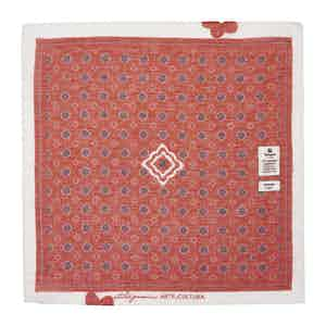 Red and Blue Diamonds Cotton and Linen Pocket Square