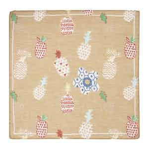 Light Brown Pineapple Cotton and Linen Pocket Square
