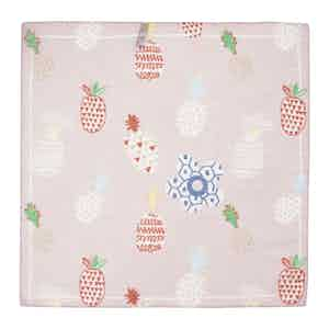 Pink Pineapple Cotton and Linen Pocket Square