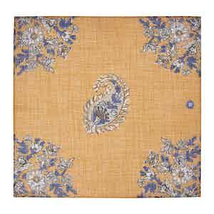 Orange Melange Cotton and Linen Pocket Square