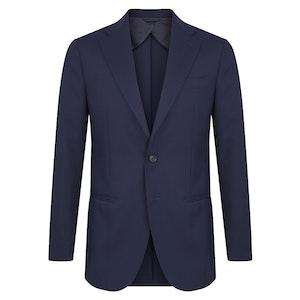 Navy Blue Virgin Wool Single-Breasted Suit