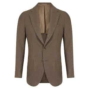Green Linen Single-Breasted Posillipo Jacket