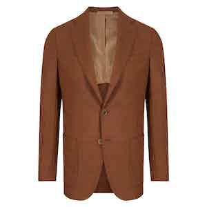 Brown Virgin Wool Single-Breasted Posillipo Jacket