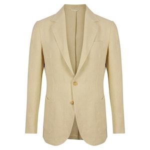 Cream Acetate Single-Breasted Anacapri Jacket