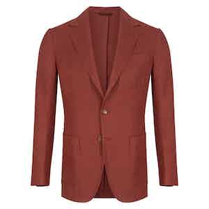 Burgundy Cotton and Linen Capri Jacket