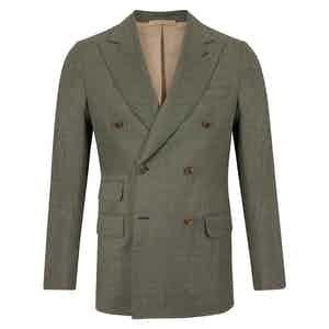 Green Virgin Wool Double-Breasted Sorrento Jacket
