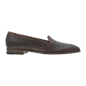 Mahogany Woven Buffalo Leather Amalfi Loafers
