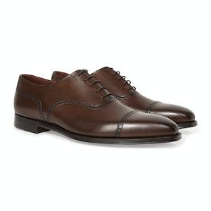 Light Brown Burnished Calf Leather Barnes Brogue Shoe