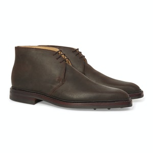 Dark Brown Leather Roughout Nathan Chukka Boot