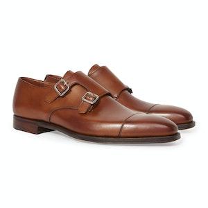 Tan Calf Leather Double Strap Thomas Monk Shoe